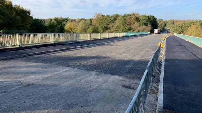 A50 Whitwick Road bridge after