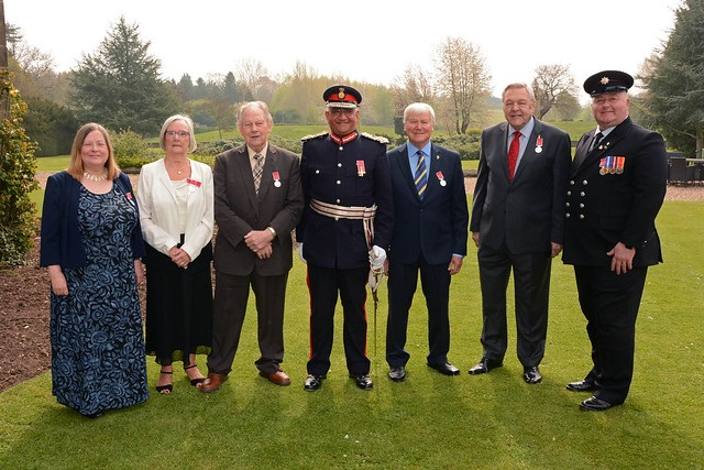 The Lord Lieutenant and the award winners