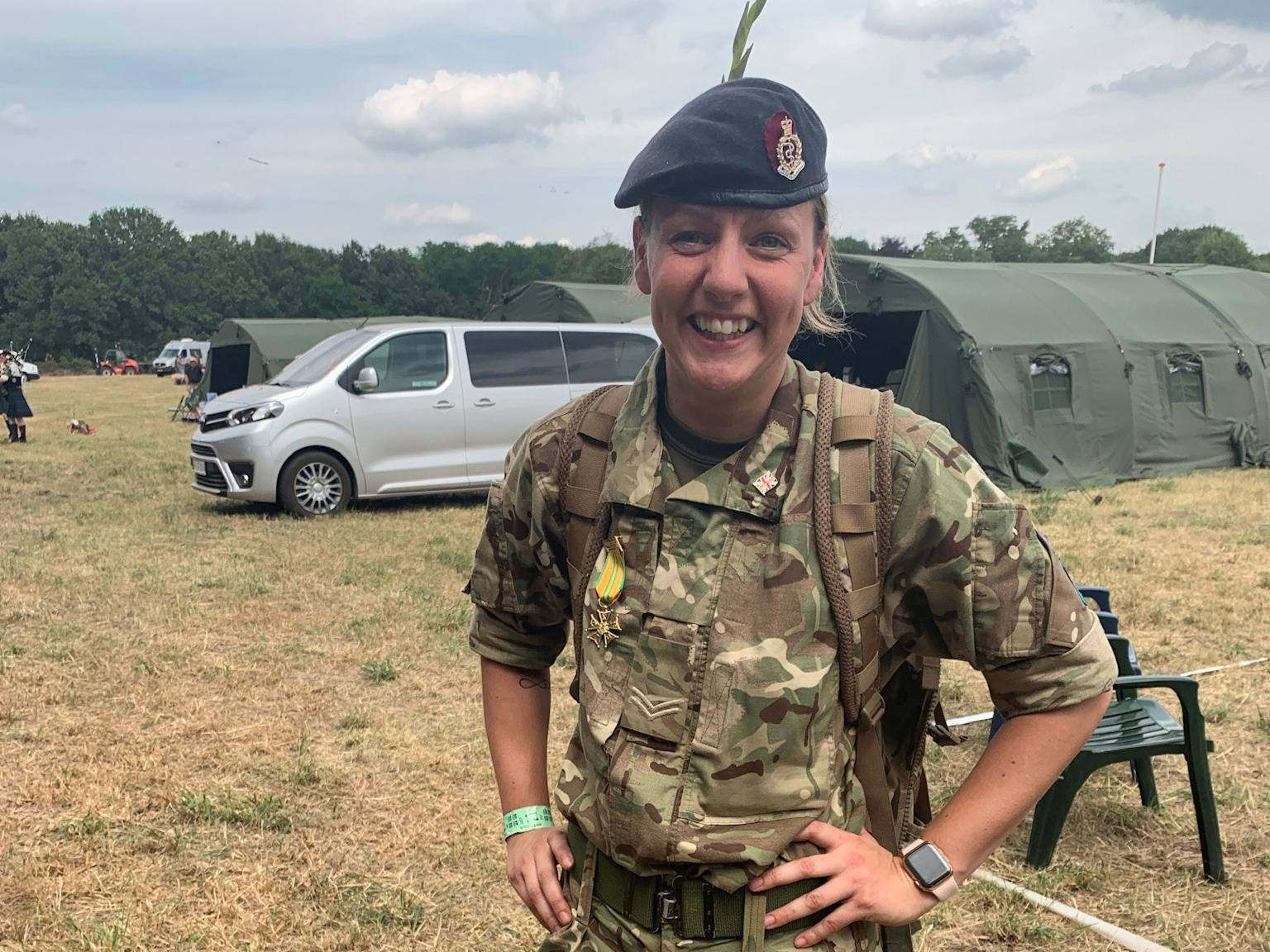 Army Reservist Corporal Louise Fowler in her uniform