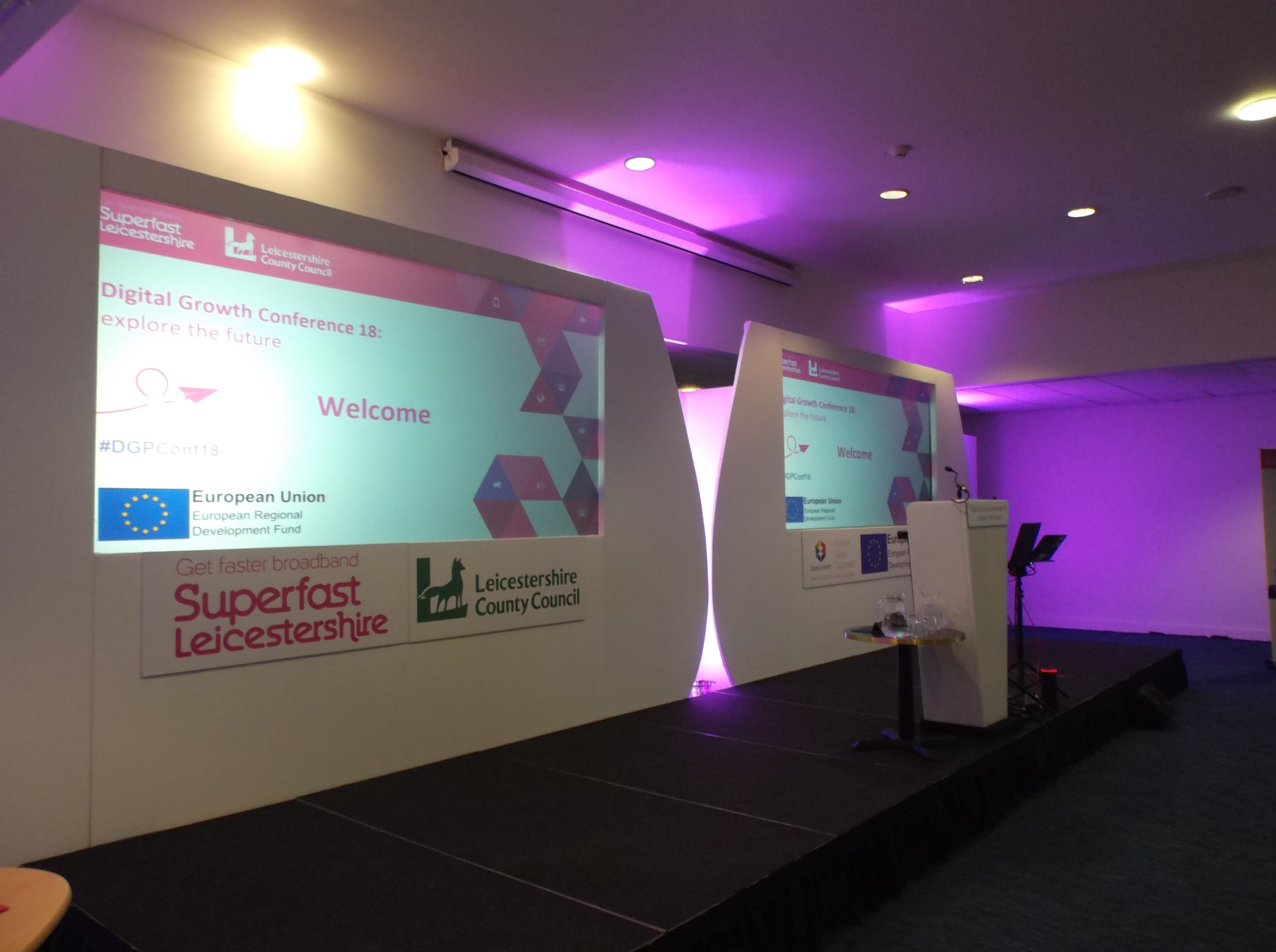 Digtal Growth Conference stage at King Power Stadium