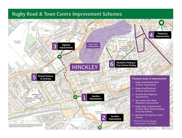 Map showing improvement scheme for Hinckley