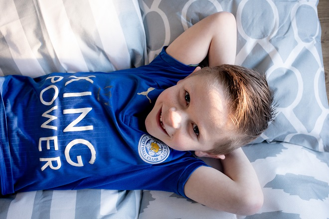 Boy in Leicester City top