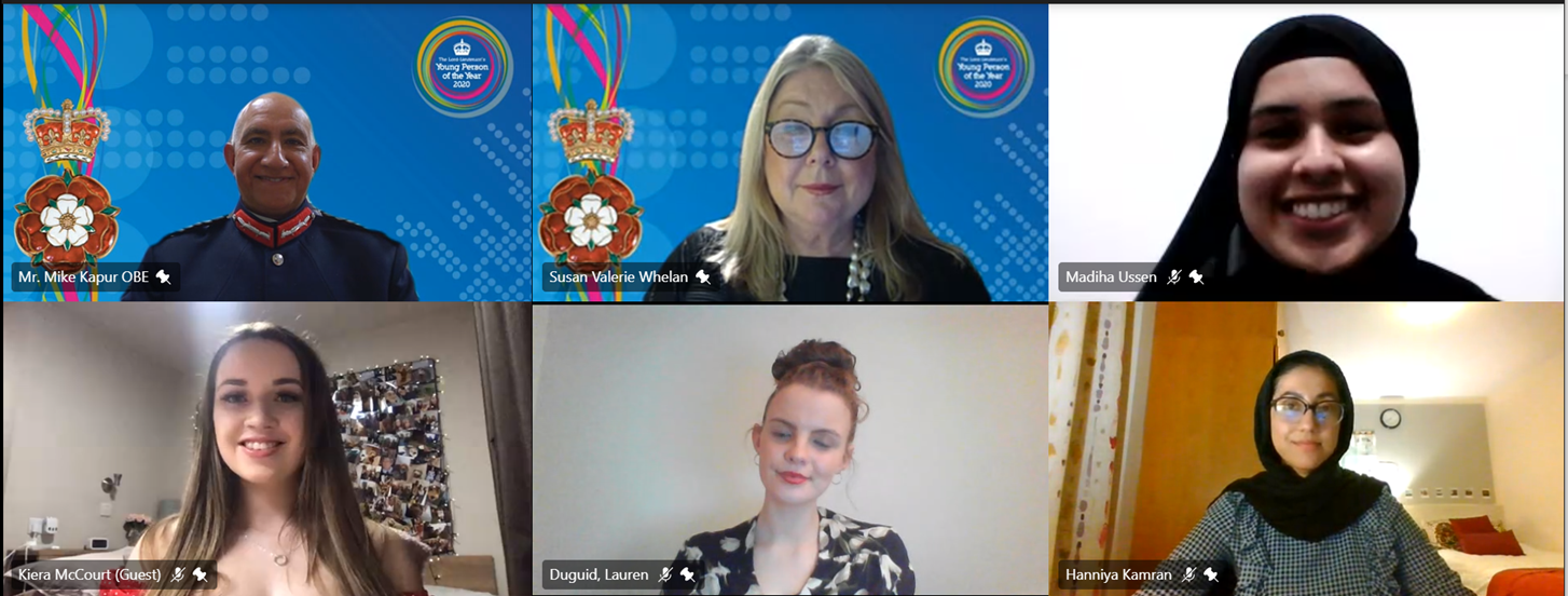 Image showing a virtual call of the Lord-Lieutenants awards for young people 2020