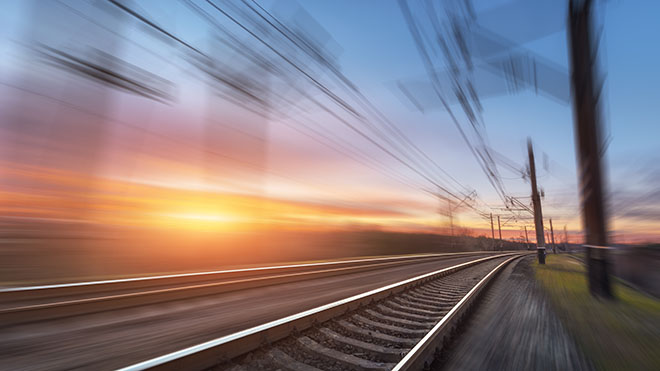 High Speed train line