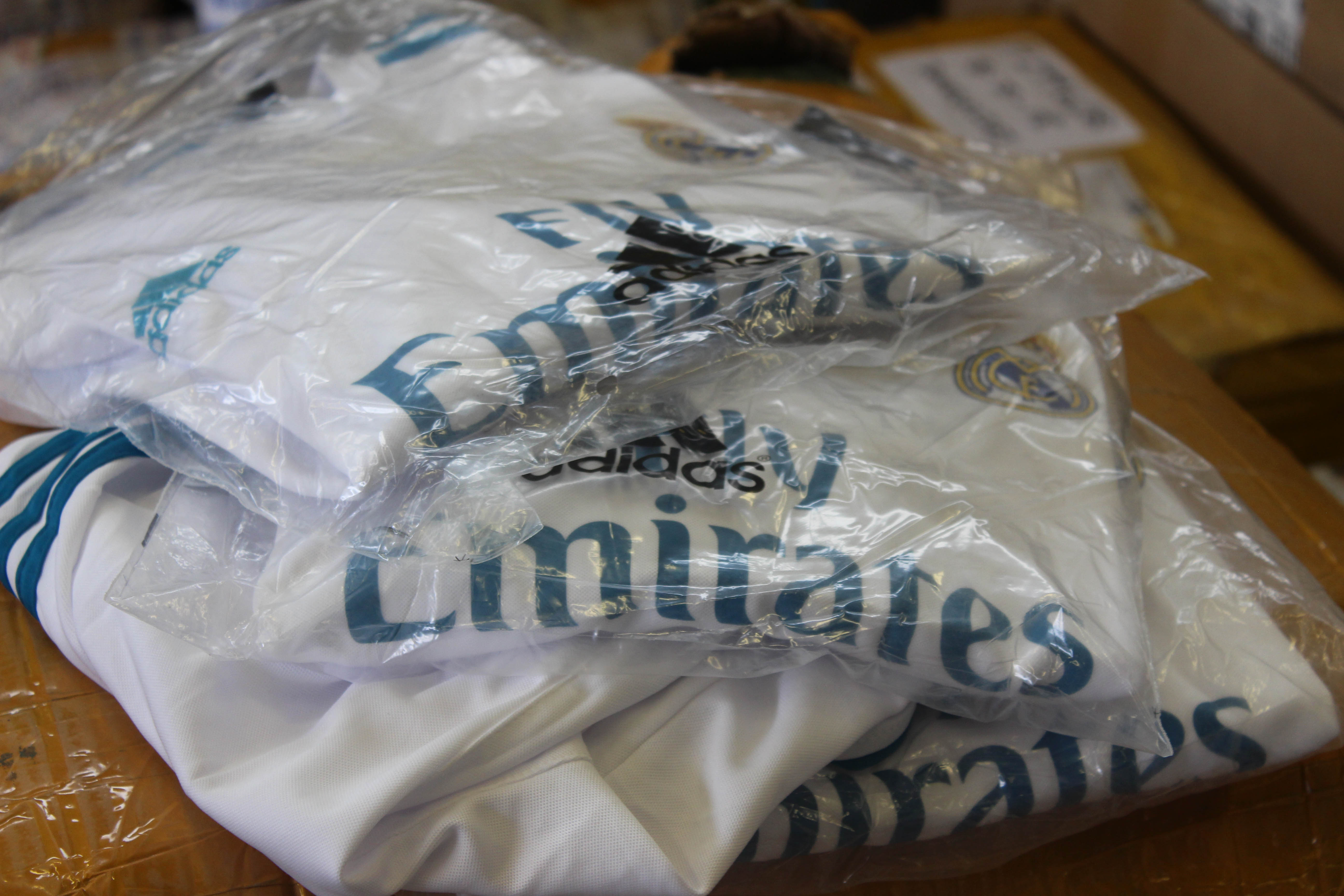 Football kits seized ahead of World Cup