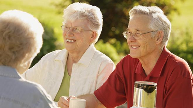 Image of older people enjoying life