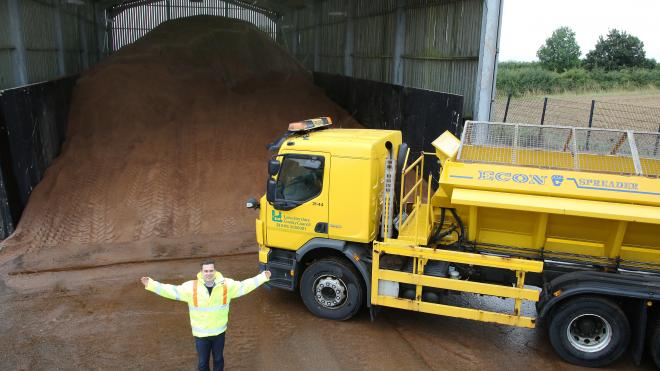 The Nailstone Depot received its first delivery of grit