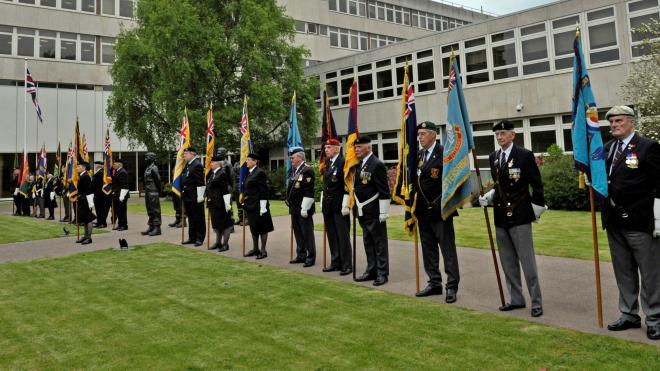 Image of armed forces event at Leicestershire's county hall