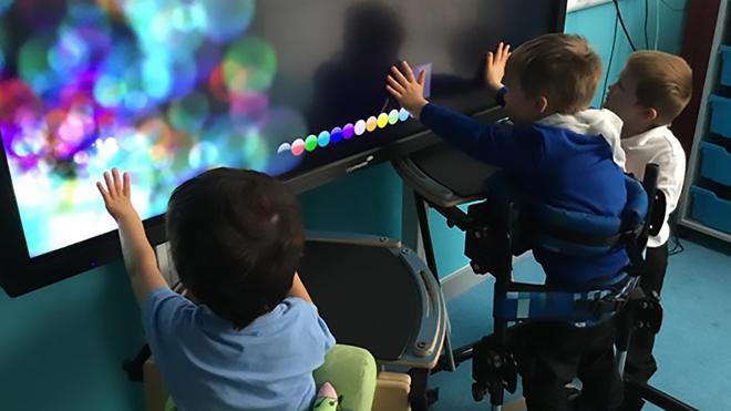 Children in sensory room