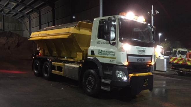 The county council's gritters are on standby to treat roads when the temperature drops