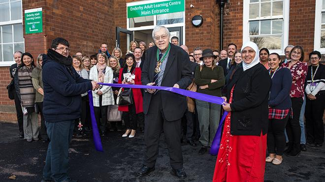County council chairman opens Enderby adult learning centre