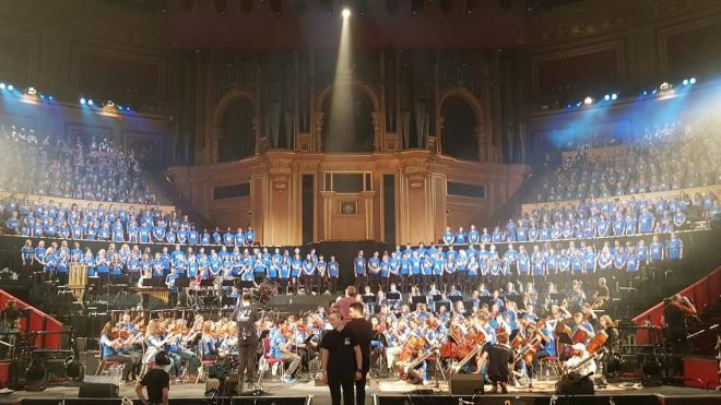 Students from Leicestershire took to the Royal Albert Hall to perform in an annual concert