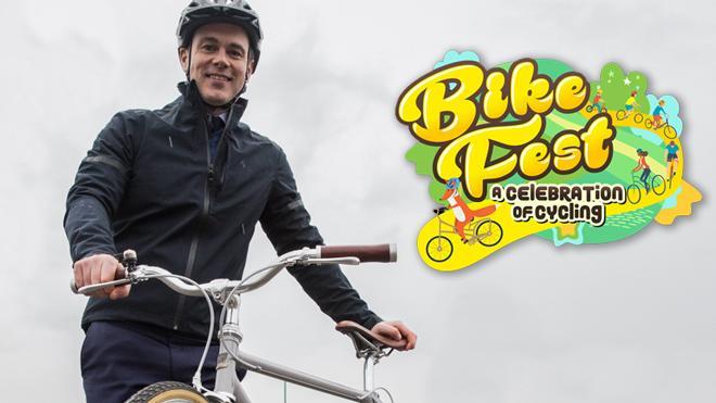 Cyclist at Bike Fest