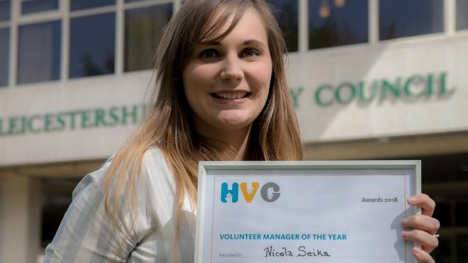 Nicola Seika, volunteering officer, was named volunteer manager of the year at a national award