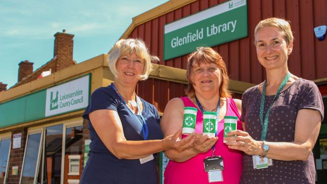 Libraries across Leicestershire are promoting the Message in a Bottle scheme