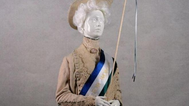 A model of a suffragette