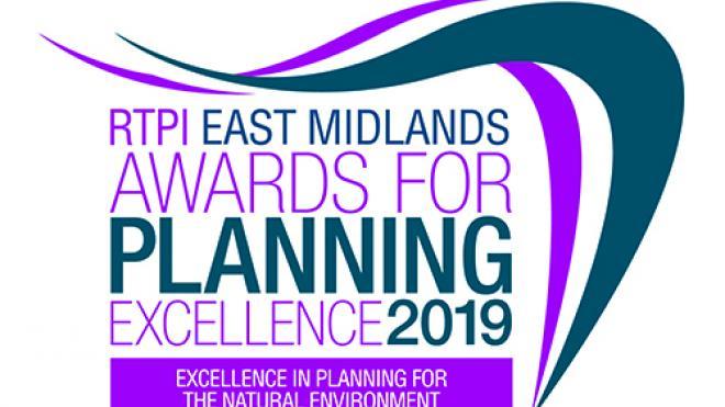 East Midlands awards for planning excellence 2019 logo