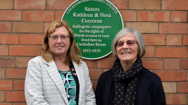 Green plaque unveiling for Corcoran sisters