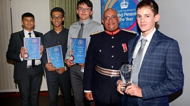 2019 Lord Lieutenant Award winners with the Lord Lieutenant, Mike Kapur