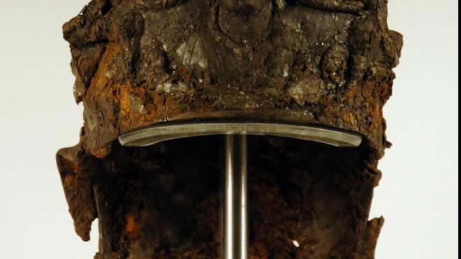 photo of ancient helmet