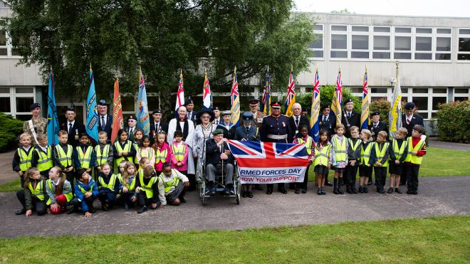 Armed Forces Day ceremony at County Hall