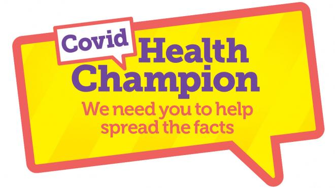 Covid health champions: we need you to help spread the facts