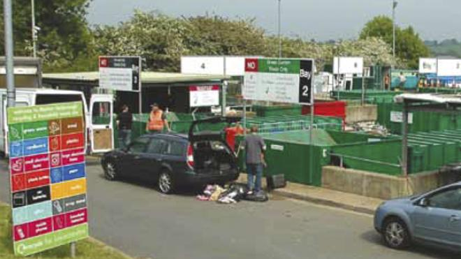 A recycling and household waste site