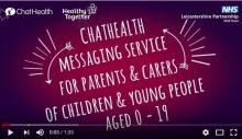 Chat Health text message service for parents