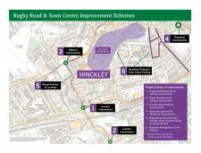 Map of proposals for Rugby Road and Hinckley town centre