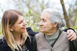 Carers. Elderly person