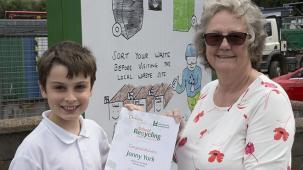 Jonny York with Councillor Christine Radford