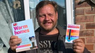 Coalville resident, Michael, was referred to the county council's Warm Homes service last year
