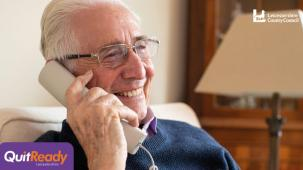 Older person on the phone