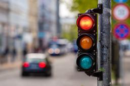 photo of traffic lights on a road