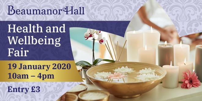 promotional image showing holistic candles and beauty treatments