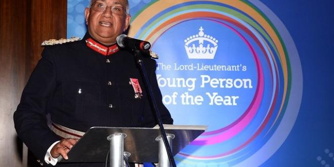 The Lord Lieutenant speaking at an event