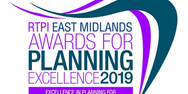 East Midlands awards for planning excellence 2019 logo