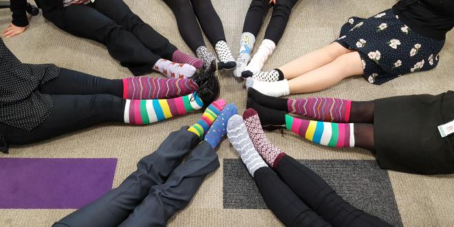 Youngsters encouraged to wear odd socks to tackle stigma around bullying