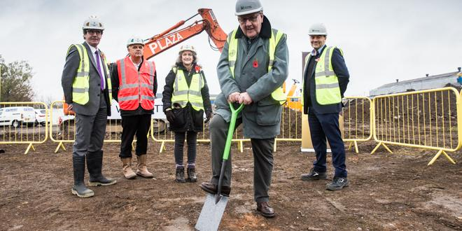 Work begins on Vulcan Park, a business park in Coalville