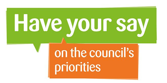 Have your say on council priorities