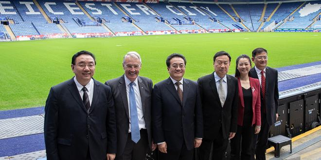 Chinese delegation with councillors at King Power Stadium