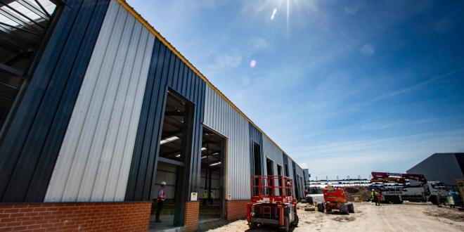 Warehouse units in business park