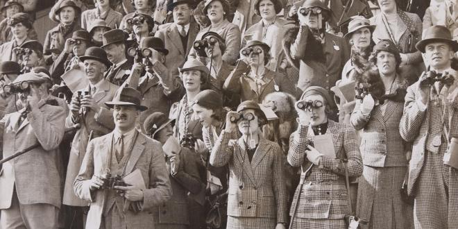 Spectators watching a Steeplechasing event