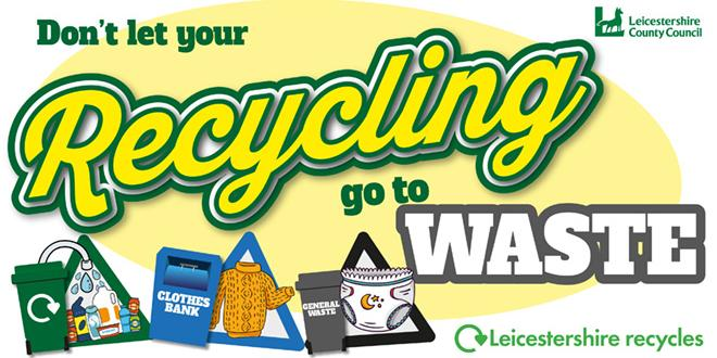 Poster of waste campaign about recycling