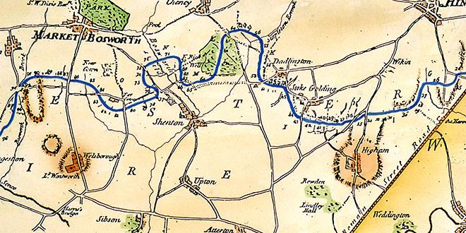 Map of Ashby Canal