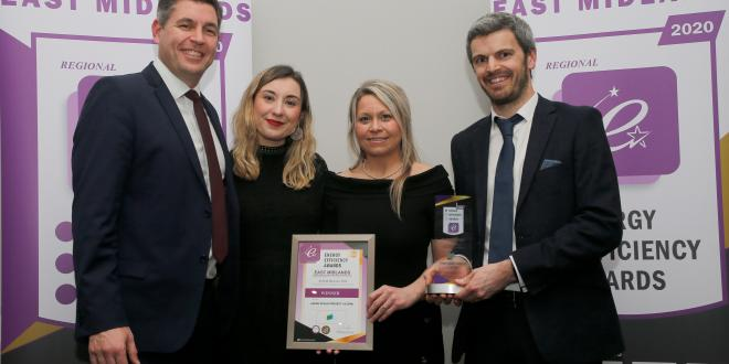 Members from the county council and contractors J Tomlinson, picked up a regional award for Airfield Business Park