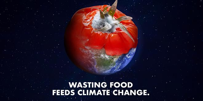 Wasting food feeds climate change