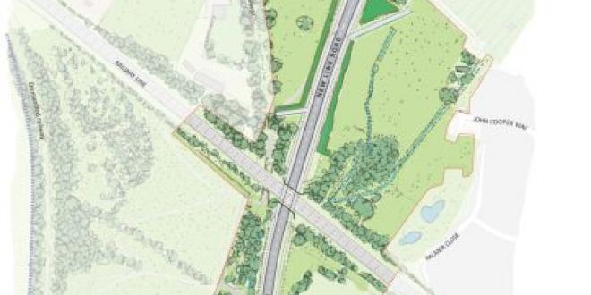 A sketch of the proposed link road.