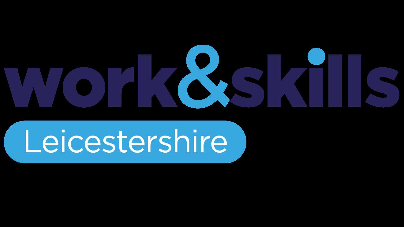 Work and skills logo light background